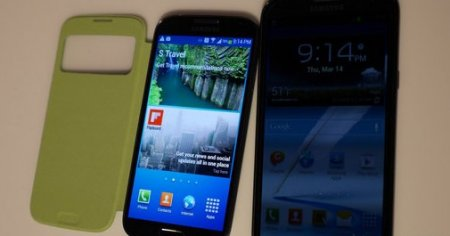 Samsung Galaxy S4 vs. Samsung Galaxy Note 2.